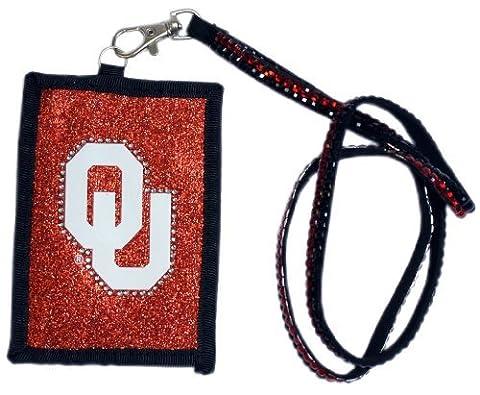 NCAA Oklahoma Sooners Beaded Lanyard with Nylon Wallet