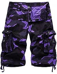 d28cbc869 Sunshey Cotton Casual Mens Twill Cargo Shorts Summer Fashion Sports Beach  Travel Pockets Camouflage Shorts