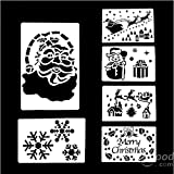 [Envio GRATIS] 6 piezas grandes de Navidad Rocíe Plantilla Nieve Decoración por la Ventana // 6 Pcs Large Christmas Spray Snow Template Window Decoration