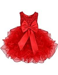 a530926e4b3 Brillante para perlas lentejuelas flores niña vestido de tutú de fiesta de  cumpleaños