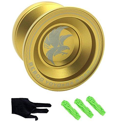 yo-yo professionnel,G6 Aigle royal Alliage d'aluminium yoyo pro freestyle Jouet + 3 Cordes + Gant Cadeau Présent pour les enfants les garçons