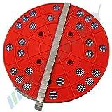 6kg RODILLO Contrapesos para Balanceo Adhesivos Galvanizado 1200x5g pesos de acero 12x5g tira adhesiva con TEAR y plástico recubierto