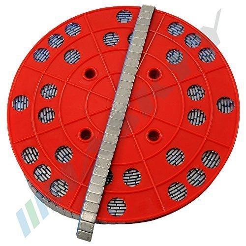 6KG ROTOLO Pesi equilibratura Pesi adesivi Pesi in acciaio 1200x5g 12x5g Striscia adesiva con BORDO STRAPPO zincato & rivestito plastica