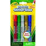 Crayola 5 CT Washable Glitter Glue - Bold, Multi Color