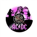 ACDC Singer LED Lampe Disque Vinyle Horloge Murale-Créatif Cadeau De Noël À La...