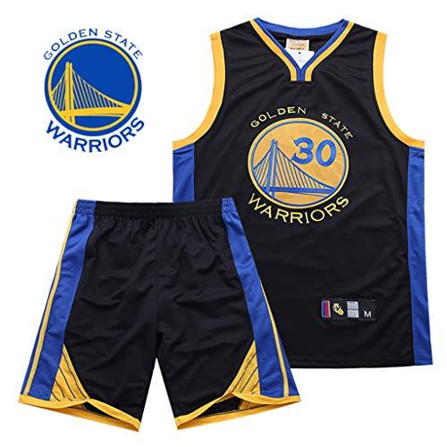 HANGESS Boy Herren Basketball Trikots und Shorts Stephen Curry Nr.30 Warriors Sommer-Basketball Uniform Top & Short