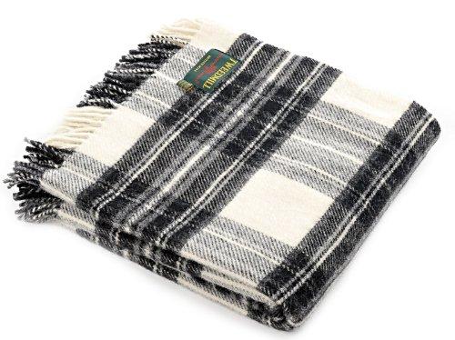 51nmy595NfL - Dress grey stewart tartan British made wool picnic blanket travel rug throw