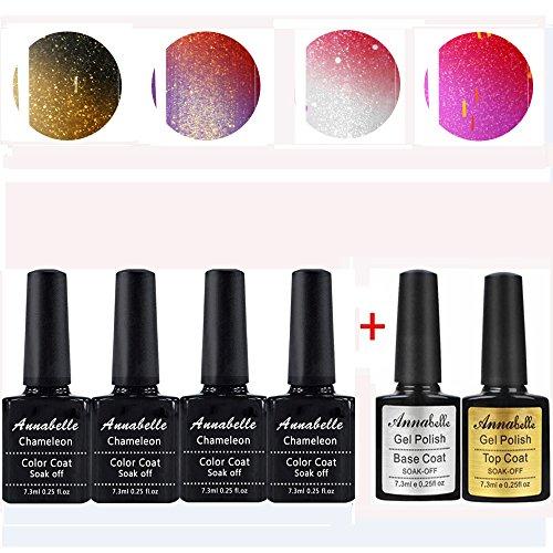 Annabelle Vernis semi permanent cameleon Gel UV LED Nail Art Vernis à Ongles Soak Off Manucure (7.3ml/pc Lot de 6) 009