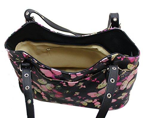 Lilly & Jane ,  Mädchen Damen Tasche Black Butterflies Print