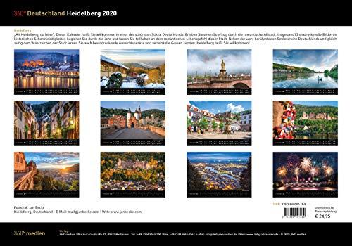 360° Deutschland - Heidelberg Kalender 2020
