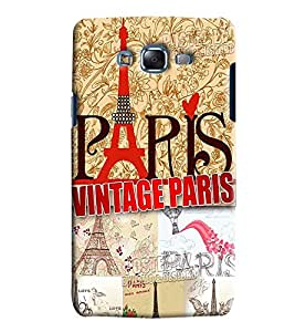 Clarks Vintage Paris Hard Plastic Printed Back Cover/Case For Samsung Galaxy J7