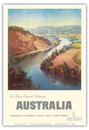 australia-tasmania-river-derwent-vintage-world-travel-poster-c1930s-master-art-print-33-x-483-cm