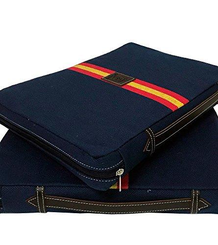 Foto de Almohadilla taurina azul con bandera de España - Azul, Sin personalizar