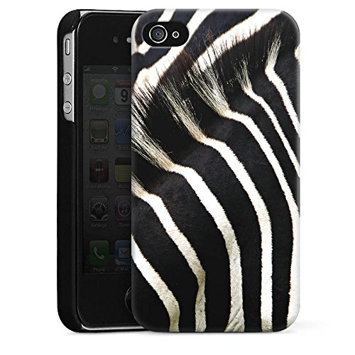 DeinDesign Hülle kompatibel mit Apple iPhone 4 Handyhülle Case Zebra Dschungel Animal Print