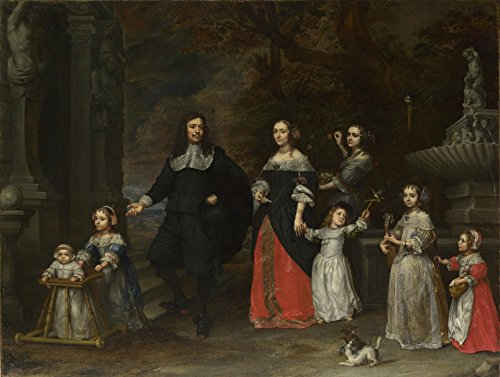 Das Museum Outlet - Gonzales Coques - A Family Group, gespannte Leinwand Galerie verpackt. 29,7 x 41,9 cm
