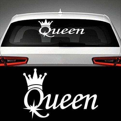 Queen Heckscheibenaufkleber 45,0 cm x 30,0 cm Auto Aufkleber JDM OEM Tuning Sticker Decal 30 Farben zur Auswahl