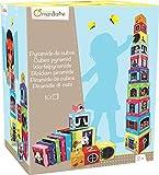Avenue Mandarine - JE506O - Jeu éducatif - Boîte de 10 Cubes à Empiler Numéroté, 1,05 M