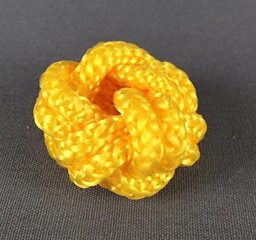 Makrameeknoten gelb für Halstuch