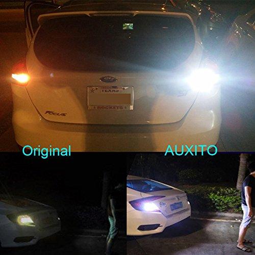 AUXITO T15 W16W LED Rückfahrlicht Birne Auto Lampen, 1000 Lumen Extrem Helle Canbus Fehlerlose 921 912 2835 15-SMD Chipsätze, 12V Backup Licht Ersatz 6000K Xenon-Weiß (2 Stück)