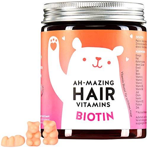 Biotin 10.000 mcg Gummibärchen - Haar Vitamine für schöne Haut, Haare, Nägel - Bears with Benefits™ AH-MAZING HAIR Vitamin Gummies - Monatsvorrat - 100% natürlich, vegan, hochdosiert
