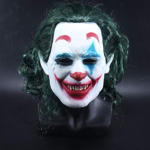 Villain Kostüm Super - K-Y YK 2019Joker mask Man Halloween Latex mask Scary super Villain Movie DC Props Funny Clown Wig