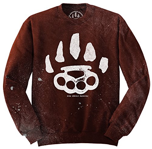 Bear Knuckle Brawlers -  Felpa  - Uomo Rosso