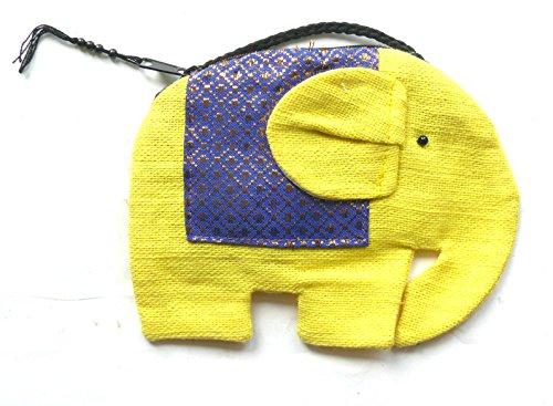 amarillo-algodon-con-forma-de-elefante-monedero-en-cuello-hombro-cord