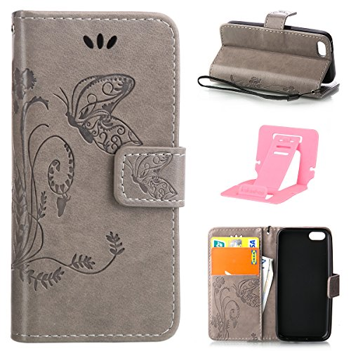 iphone 5C Custodia, Ekakashop Lusso Diamante Design Flip Folio PU Leather Book Wallet Custodia Tasca Chiusura Magnetica Stile del libro del Protettiva in Pelle Stand Cassa Case Cover per Apple iphone  C#6