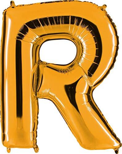 Grabo 372G-P Letra R Globo Superloon paquete individual, largo-40 pulgadas, color, oro, talla única