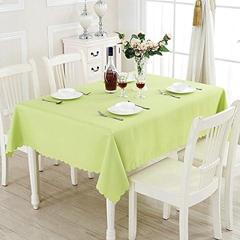 Yifom Solido spesso Ristorante sala da pranzo la tovaglia per un picnic banchetto di nozze tovaglia rettangolare,Apple-green,150*210cm