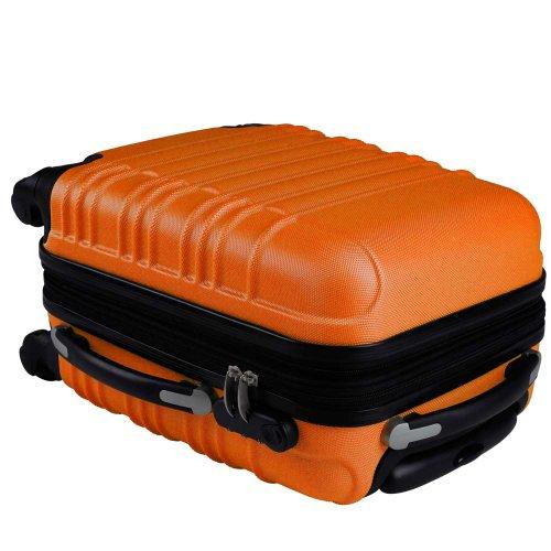 Vojagor 4 tlg. Trolley Koffer Hartschalen Set - Reisekoffer mit 4 Rollen 360°, S,M,L,XL (ineinander stapelbar) Farbwahl - 4