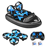 UNIROI Mini RC Drone, 3 in 1 RC Quadcopter Supporto RC Vehicle RC Boat, 2.4Ghz Sensore con 360° Flips e Funzione Headless, Buono per Principianti - UH36F