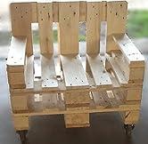 """""""2 Sessel aus hochwertigen Vollholz Europaletten mit Rollen"""" Die Maße der Sitzfläche betragen circa: 60 cm x 52 cm x 45 cm (BxTxH) Die Gesamtmaße betragen circa: 80 cm x 67 cm x 80 cm (BxTxH) Pro Sessel werden 4 Rollen montiert von denen 2 feststellb..."""