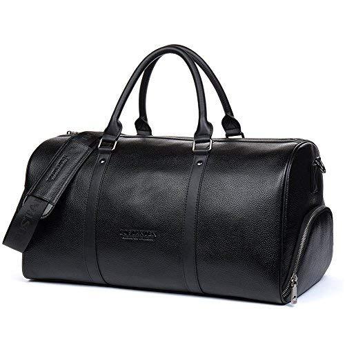 Bostanten vera pelle borsone da viaggio cuoio tote da palestra bagaglio valigetta uomo