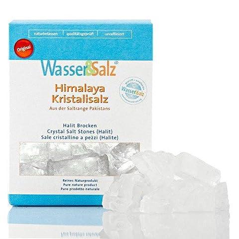 Kristallsalz Halite 1000 g Original Wasser & Salz AG aus der 'salt range Pakistan'