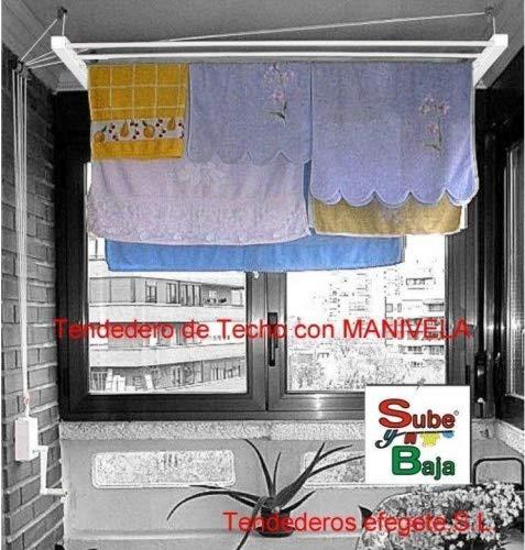 Tendederos Efegete Tenmv120 - Tendedero techo manivela