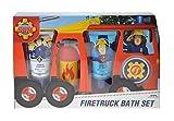Fireman Sam Feuerwehrauto Badeset: Shampoo 30 ml, Duschgel 30 ml, Badefizzer & Wasserspielzeug