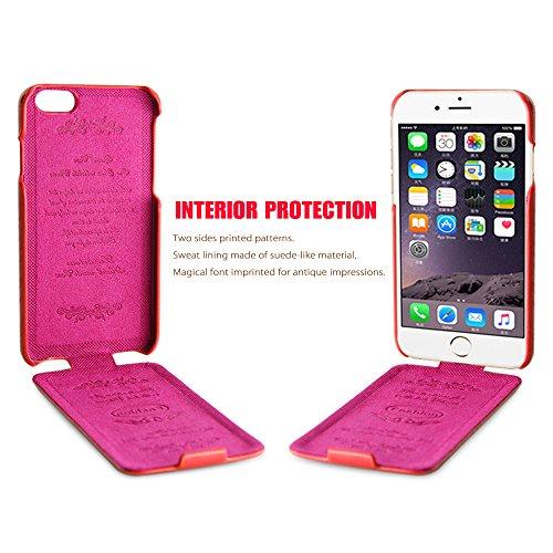"""iPhone 6S Schutzhülle, Belk [Up & Down] Serie Flip Case–[Wild Grain] + Echtleder Schutzhülle für iPhone 6/6S–11,9cm (Classic Fashion Schwarz), Kunstleder Leder, UP Red, iPhone 6 / 6S - 4.7"""" UP Red"""