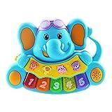 Babyspielzeug Klavier Spielzeug für Kinder Keyboard Musikinstrumente Animal Piano mit Tierstimmen Sounds Blau