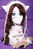 C-05 weiß Gothic Lolita Maid Katzen Ohren Cat Ear Haarband Halsband Armband Set Cosplay