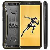 Blackview BV5500 (2019) Outdoor Smartphone Dual Sim da 4400mAh, 16GB ROM e 2GB, 32GB Espandibili, 13MP e 5MP, Android 8.1, Smartphone Antiurto 5.5' HD+ Face ID, GPS/Bussola/WIFI/Hotspot-Giallo [EU]