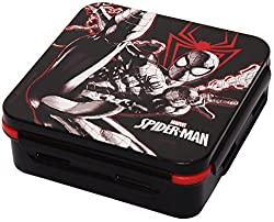 Marvel Spider Man Plastic Lunch Box Set, 3-Pieces, Multicolour (HMRPLB 253-SPM)