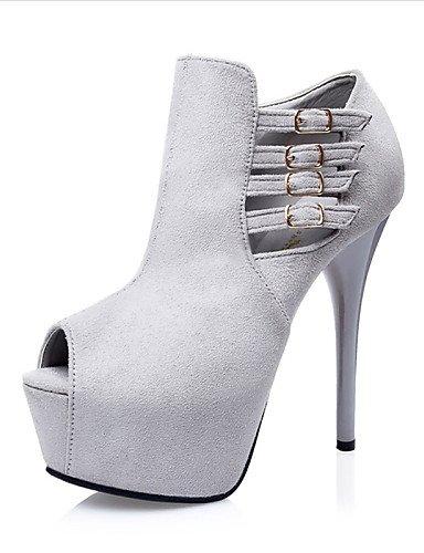 WSS 2016 Chaussures Femme-Décontracté-Noir / Vert / Gris / Fuchsia-Talon Aiguille-Talons-Sandales-Laine synthétique green-us6.5-7 / eu37 / uk4.5-5 / cn37