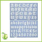 Helix old english alphabet stencil set - 30mm
