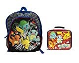Pokemon Friends 16 inch 3D Puffy Backpack and Lunch Box Two Piece Bundle Set