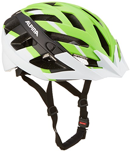 Alpina Panoma L.E. Fahrradhelm, Neon Green/Black/White, 56-59 cm