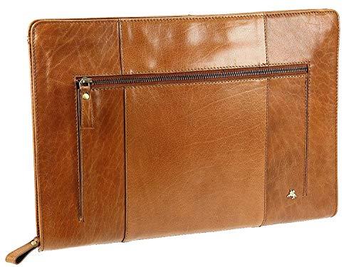 Visconti Buffalo Leder Folie A4 Dokument Halterung Ordner Schutzhülle - ML26 - Hellbraun, Standard -