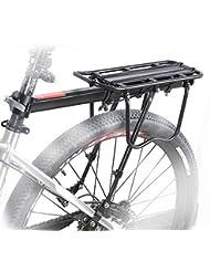 COMINGFIT® Portaequipajes Ajustables De Alta Resistencia De Aluminio De Bicicletas Que Tienen 50kg Capacidad De Llevar (Incluyendo Herramientas De Instalación)