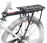 COMINGFIT Fahrrad Gepäckträger Sattelstütz für Fahrrad, MTB Aluminium Hinten Gepäckträger, max. Zuladung 50kg