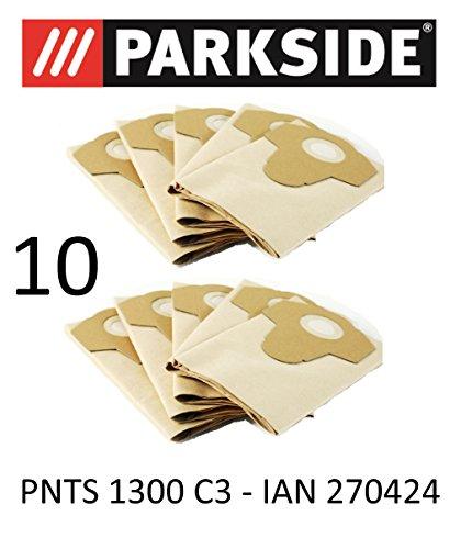 10 Sacs d'aspirateur Parkside PNTS 1300 20 L C3 Lidl Ian 270424 Marron 906–05 – Parkside Aspirateur sec humide